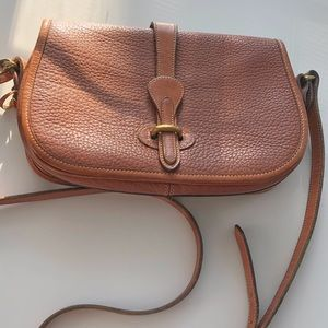 Vintage Dooney & Bourke Leather Flap Crossbody